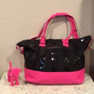 Victoria's Secret travel bag & PINK dog